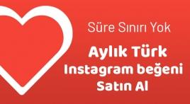 Instagram Aylık Türk Beğeni Satın Al